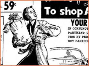 1957 Thriftway ad drama