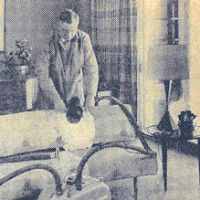Upholstery cleaning machine 1960
