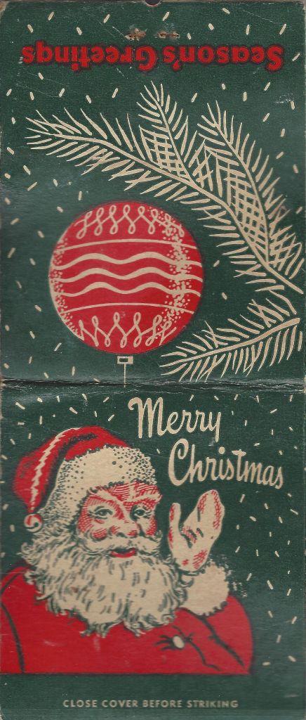 1949 Giant Feature Santa matches