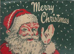 Merry Christmas Santa matchbook