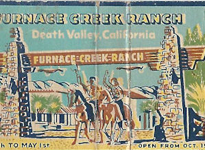 Furnace Creek Matchbook
