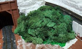 HO scale shrub hill