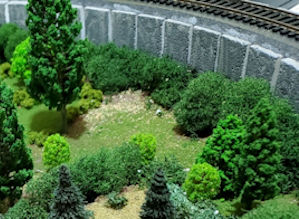 forested area on my HO train layout