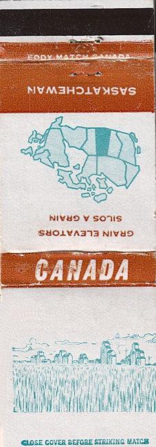 see the Saskatchewan grain elevators matchbook