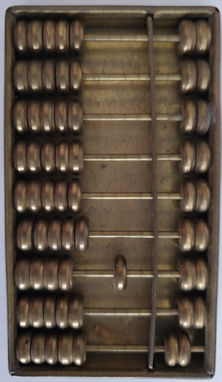 Small old brass abacus