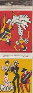 Spanish dancer matchbook cover