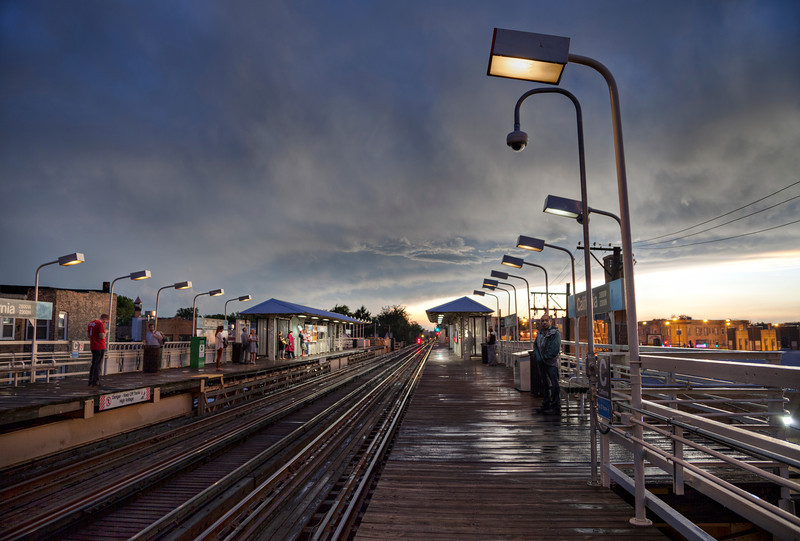 Storm over the platform