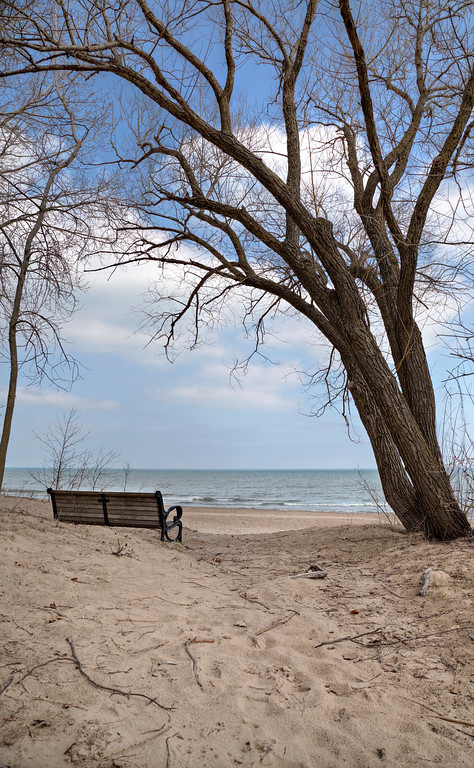 Walking Wilmette Beach, kind of