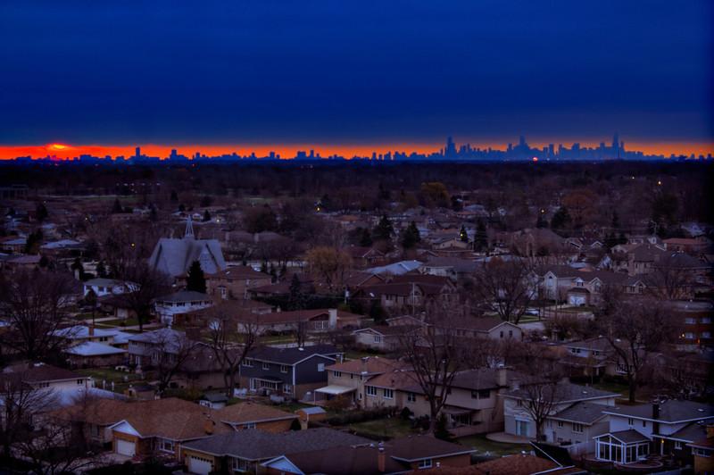 Good morning skyline   Chicago at daybreak