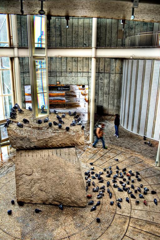 Moving man at pigeon rock