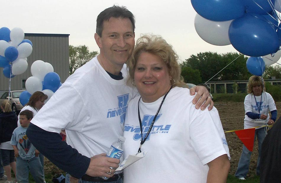 Don and Mindy Pittman at first Never Settle Walk/Run