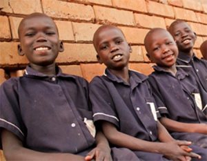 Boys from Gulu wearing school unifforms