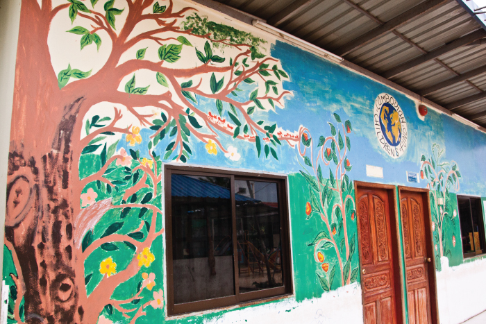 Mural on school wall at CCF #5