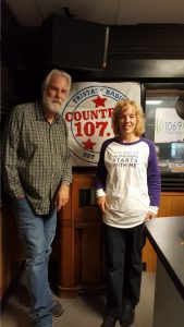Tom Earl of WDLC, & JoAnn Kroner of Alzheimer's Association