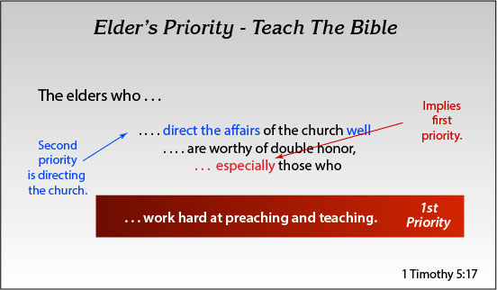 Elder's Priority - Teach The Bible