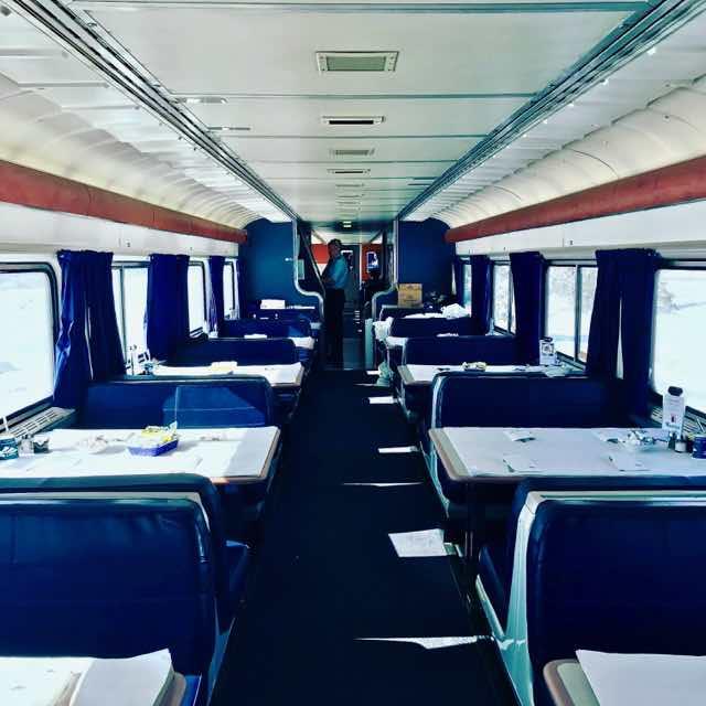 Amtrak dining car | NevertoOldtoTravel.com | Gary House