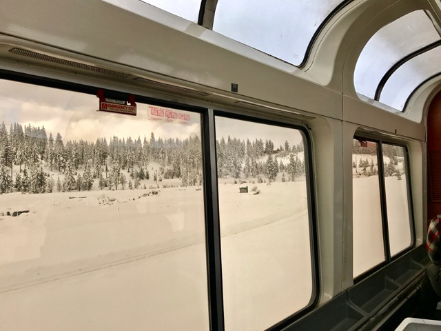 View out the Amtrak Sightseer car | NevertoOldtoTravel.com | Gary House