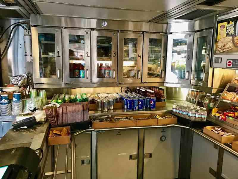 Amtrak Cafe Car Drinks | nevertooldtotravel.com | Gary House