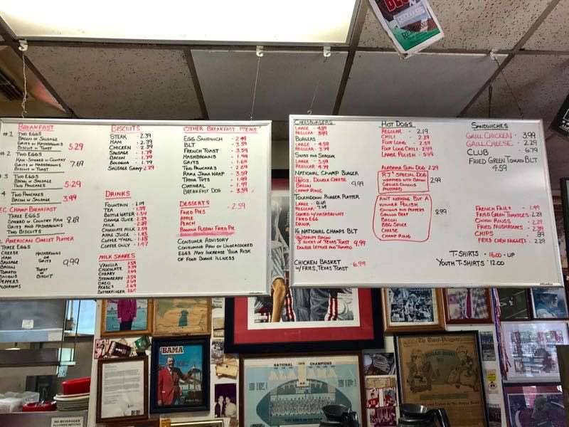 Hand written menu at Rama Jama's | nevertooldtotravel.com | Gary House