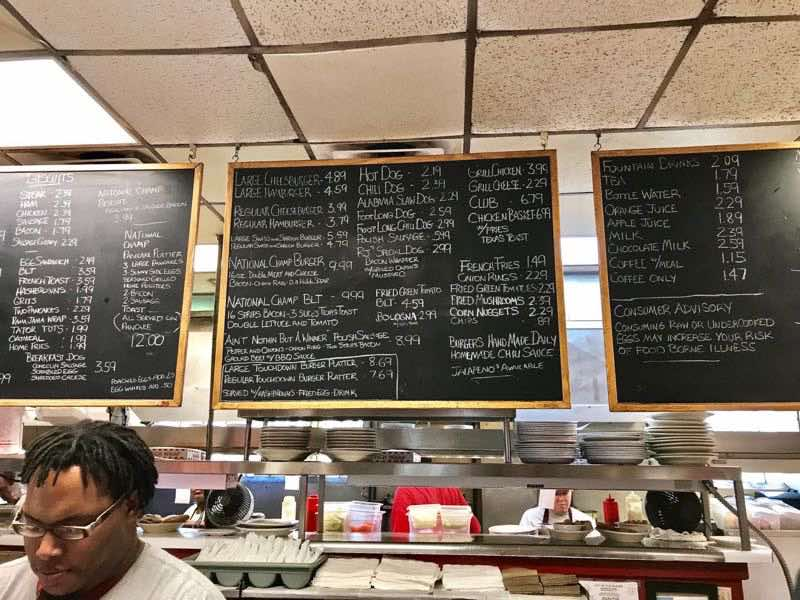 Hand written menu on chalkboard | nevertooldtotravel.com | Gary House