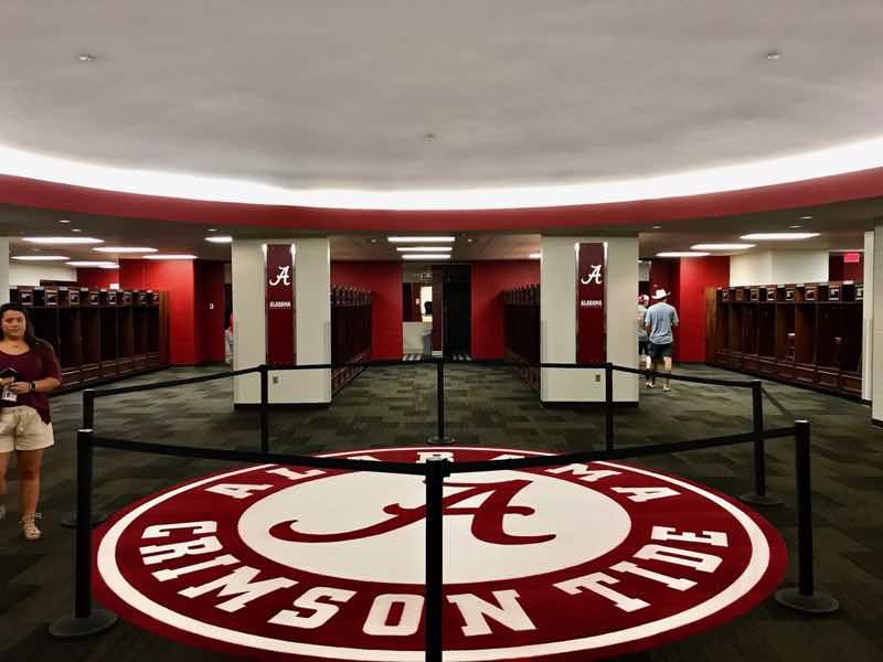 Crimson Tide Locker Room | nevertooldtotravel.com | Gary House
