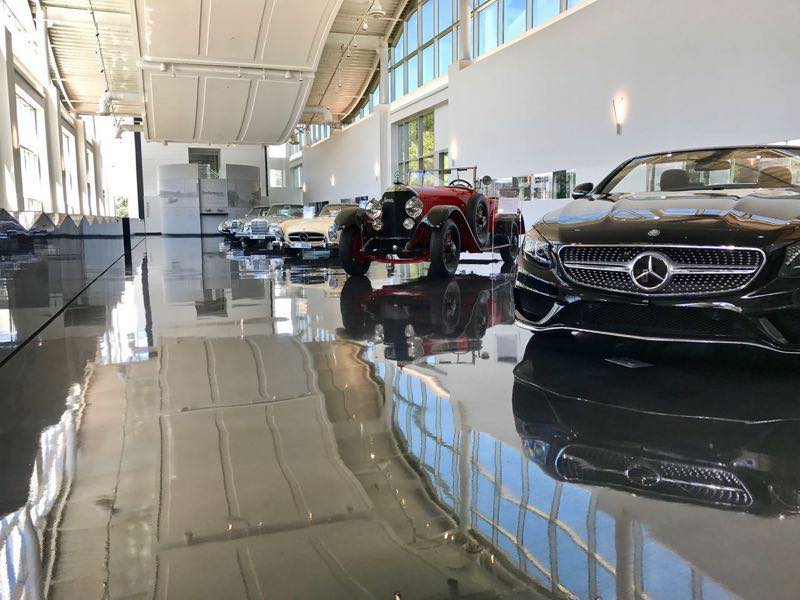Mercedes Benz Historic Line-up of Cars | nevertooldtotravel.com | Gary House