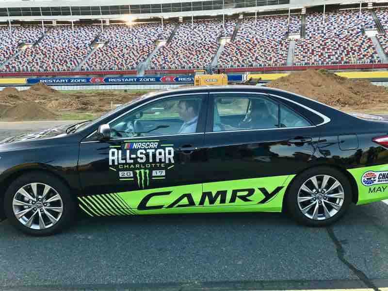 Experiencing the Thrill of Riding in a NASCAR Pace Car