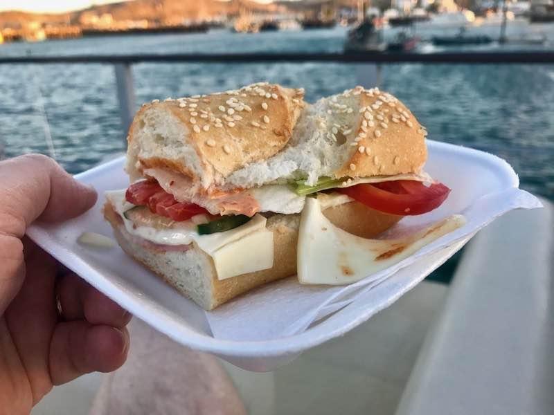 Spicy sub sandwiches avialable on the Señorita Rita | Nevertooldtotravel.com | Gary House