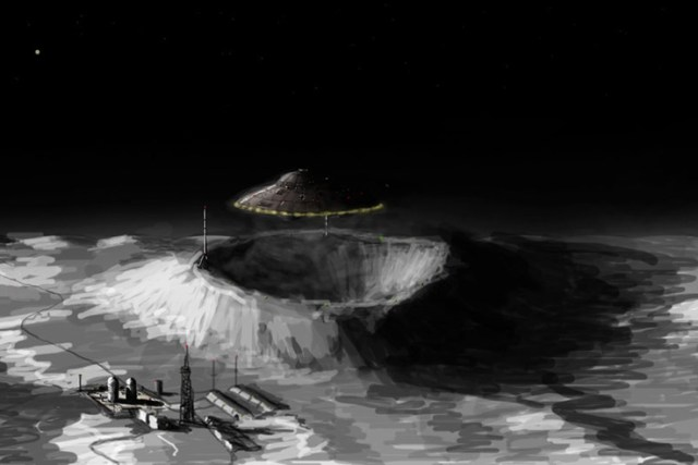 Nazi moon artwork by Rainyempire