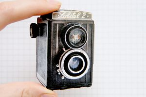 Vintage Camera Brooch