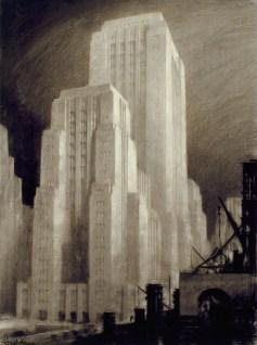 Hugh Ferriss artwork