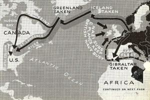German invasion of America map
