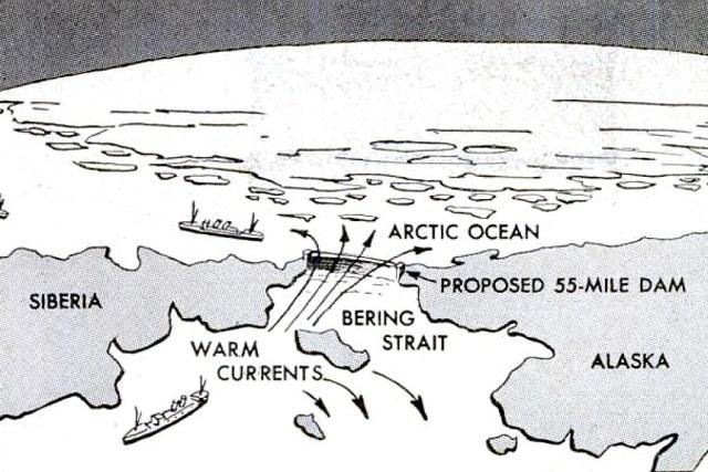 Soviet Arctic dam map