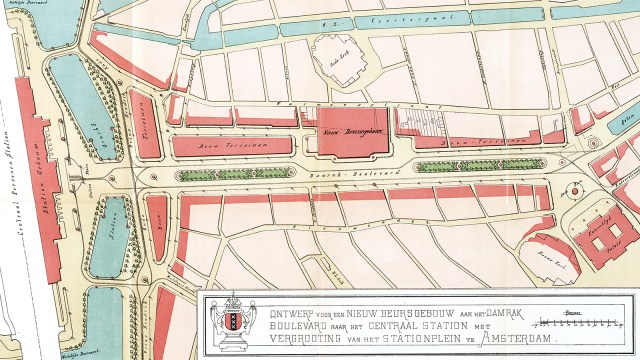 Amsterdam Damrak Boulevard map
