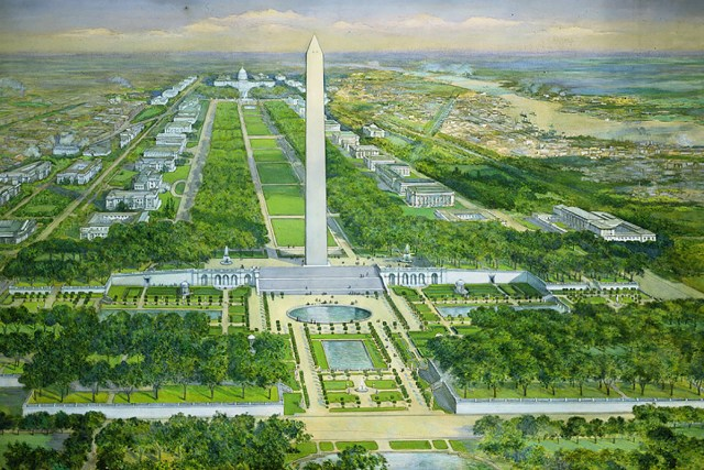 Washington Monument Gardens by Charles Graham
