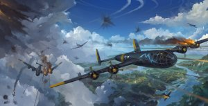 Messerschmitt Me 264 German bomber artwork