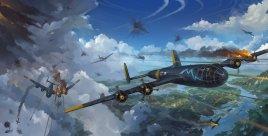 Messerschmitt Me 264 German bomber artwork