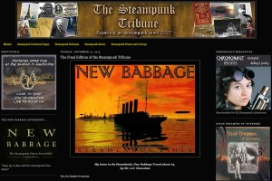 The Steampunk Tribune website