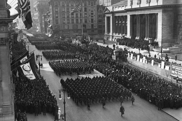 World War I victory parade New York