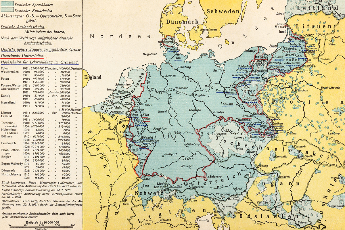 1936 Germany map