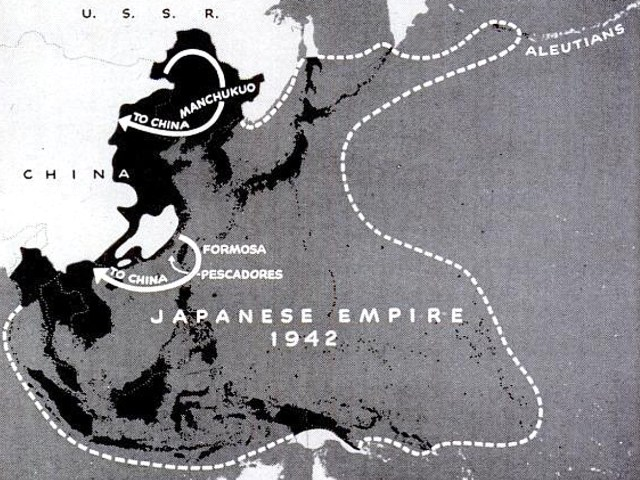 1942 Japanese Empire map