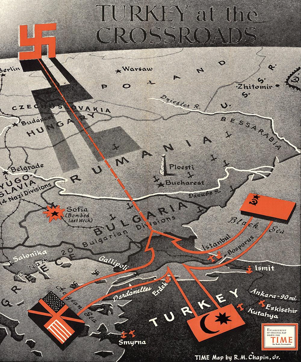 1943 Turkey map
