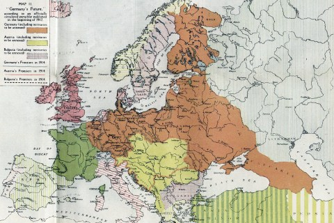Germany's Future 1917 map