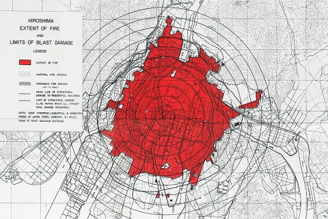 Hiroshima atomic bombing map