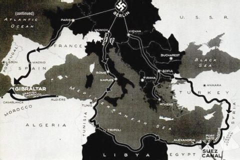 Nazi-occupied Europe map