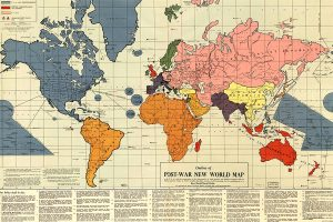 1942 Post-War New World map