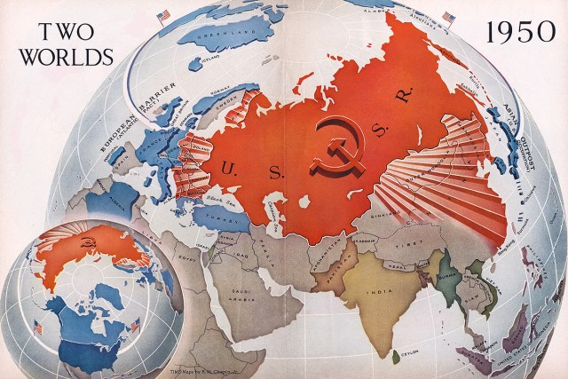 1950 Cold War map