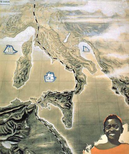 Atlantropa Italy map