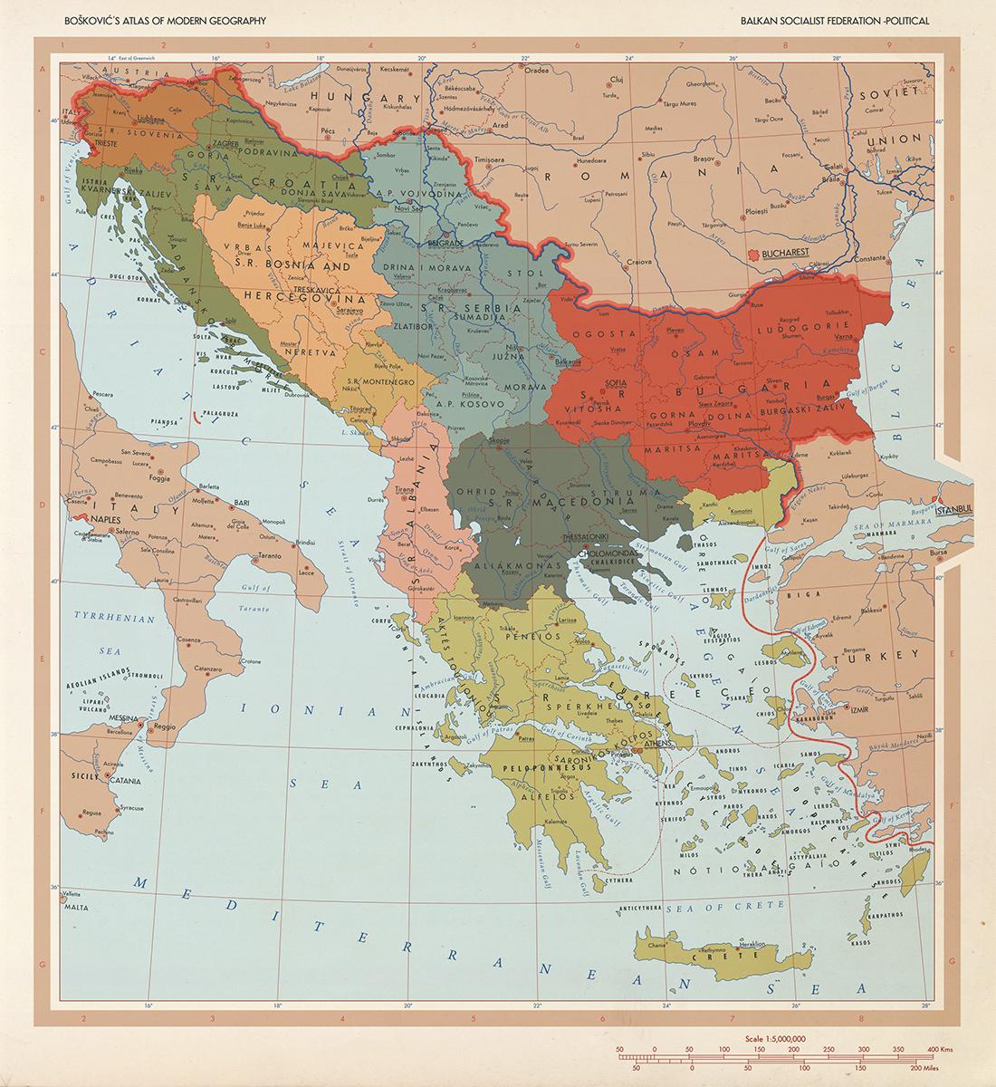 Balkan Federation map