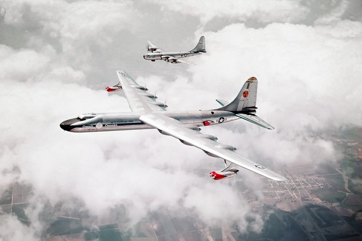 Boeing B-50 Superfortress Convair B-36 Peacemaker bombers